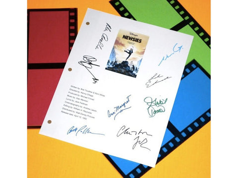 Newsies Movie Signed Screenplay Autographed: Christian Bale, Bill Pullman, Ann-Margaret, Robert Duvall, Max Casella, Gabriel Damon & More