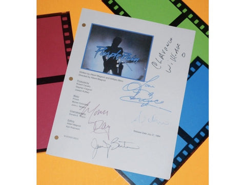 Purple Rain Movie Signed Screenplay Autographed: Prince, Apollonia Kotero, Morris Day, Clarence Williams III, Jerome Benton