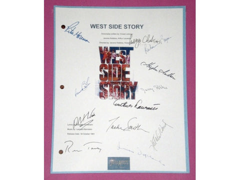 West Side Story Movie Script Autographed: Natalie Wood, Richard Beymer, Rita Moreno, George Chakiris, Russ Tamblyn, Simon Oakland & More