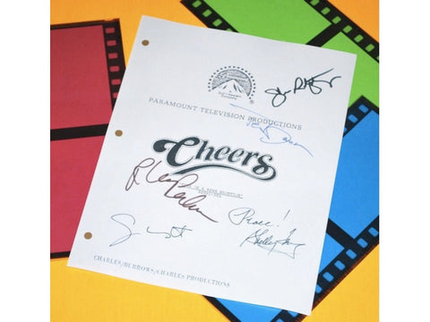 Cheers Give Me a Ring Sometime Episode Script Autographed: Ted Danson, Shelley Long, Nick Colasanto, Rhea Pearlman, John Ratzenberger & More