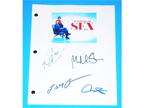 Masters of Sex Signed Script  Michael Sheen, Lizzy Caplan, Caitlin Fitzgerald and more
