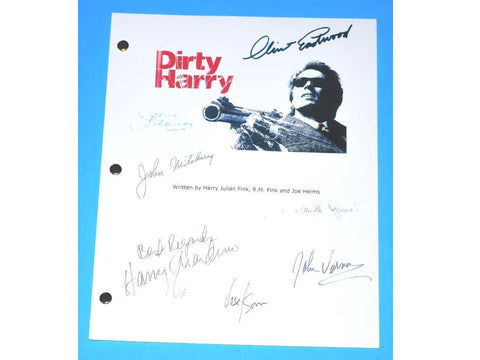 Dirty Harry Signed Movie Script Clint Eastwood, Harry Guardino, John Vernon, John Larch, John Mitchum, Jose Sommel, Albert Popwell
