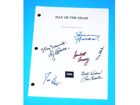 Day of the Dead Signed Movie Script 1985 George A. Romero, Lori Cardille, Terry Alexander, Joe Pilato, Jarlath Conroy, Sherman Howard