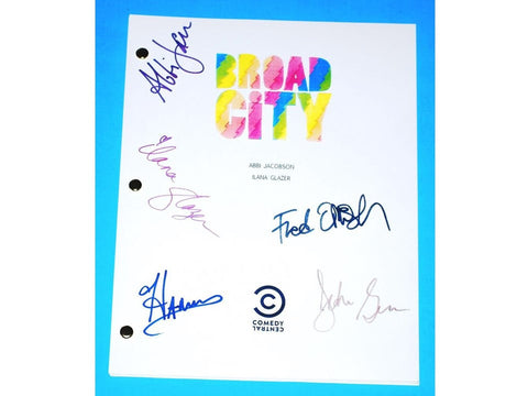 Broad City TV Signed Script Fred Armisen, John Gemberling, Hannibal Buress and more