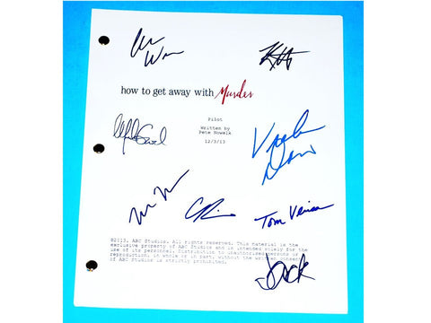 How To Get Away With Murder Signed TV Script Viola Davis, Alfred Enoch, Katie Findlay, Matt McGorry +