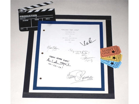 Friday The 13th Movie Script Signed Screenplay Autographed: Betsy Palmer, Adrienne King, Mark Nelson, Kevin Bacon & Ari Lehman