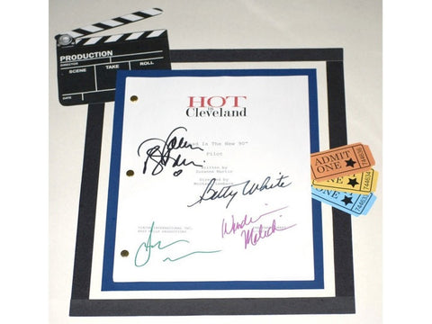 Hot in Cleveland Pilot Episode Autographed: Betty White, Valerie Bertinelli, Wendie Malick, Jane Leeves
