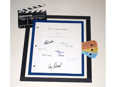 2001 A Space Odyssey Movie Script Signed Screenplay Autographed: Keir Dullea, Gary Lockwood, Margaret Tyzack, Robert Beatty, Edward Bishop