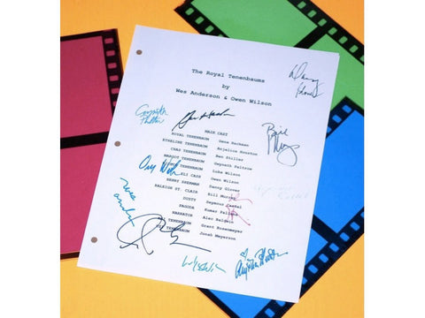 The Royal Tenenbaums Movie Script Signed Screenplay Autographed Gene Hackman, Ben Stiller, Wes Anderson, Gwyneth Paltrow, Owen Wilson & More
