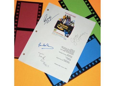 Yellow Submarine The Beatles Movie Script Signed Screenplay Autographed: George Harrison, John Lennon, Paul McCartney, Ringo Starr