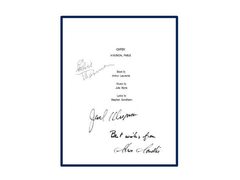 Gypsy Original Broadway Production Script Autographed Signed: Ethel Merman, Jack Klugman, Stephan Sondheim