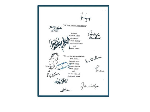 Star Wars Holiday Special Movie Script Autographed Signed: Harrison Ford, Peter Mayhew, Mark Hamill, Carrie Fisher, Anthony Daniels & More