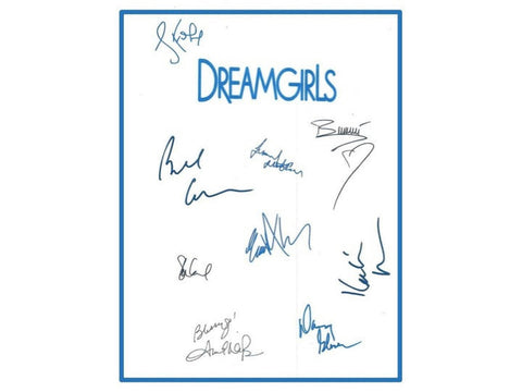 Dreamgirls Movie Script Autographed Signed: Jamie Foxx, Beyonce Knowles, Eddie Murphy, Danny Glover, Jennifer Hudson, Bill Condon & More