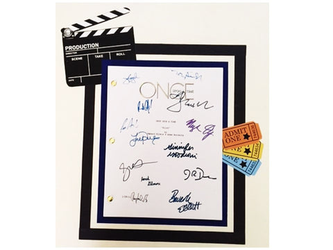 Once Upon A Time Pilot Script Signed Reprint Jennifer Morrison, Josh Dallas, Ginnifer Goodwin + more