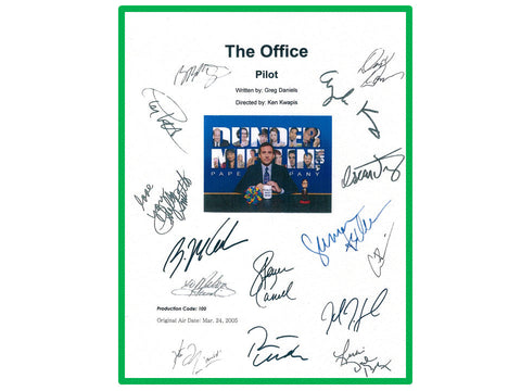 The Office Pilot TV Script Screenplay Autographed: Steve Carell, John Krasinski, Jenna Fischer, Rainn Wilson, B.J. Novack, Ed Helms