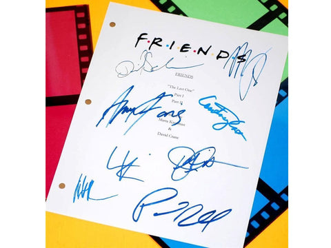 "Friends ""The Last One"" Final Episode Script TV Episode Autographed: Jennifer Aniston, Courtney Cox, David Schwimmer, Matthew Perry, Lisa K."