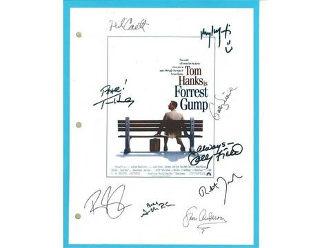 Forrest Gump Signed Script Tom Hanks, Sally Field, Gary Sinise, Mykelti Williamson, Robin Wright