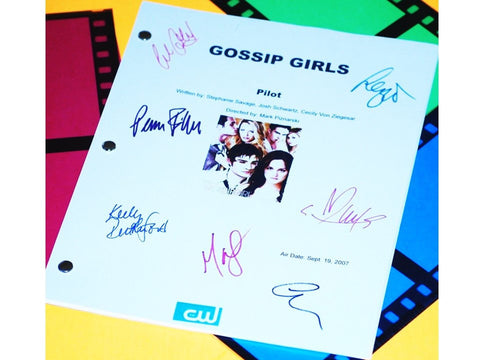 Gossip Girl TV Pilot Script Signed Reprint Blake Lively, Chace Crawford, Ed Westwick, Penn Badgley, Leighton Meester + more