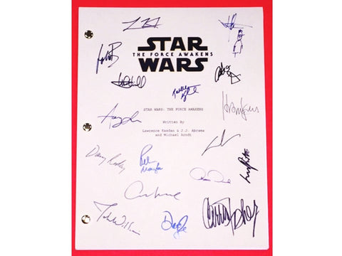 Star Wars The Force Awakens Script Signed 17X J.J. Abrams, Harrison Ford & More