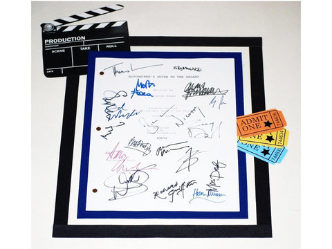 Hitchhiker's Guide to the Galaxy Movie Script Signed Screenplay Autographed: Martin Freeman, Zooey Deschanel, Mos Def, Sam Rockwell & More