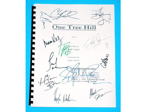 One Tree Hill Signed Script Chad Michael Murray, James Lafferty, Sophia Bush, Hilarie Burton, Paul Johansson, Cullen Moss + More