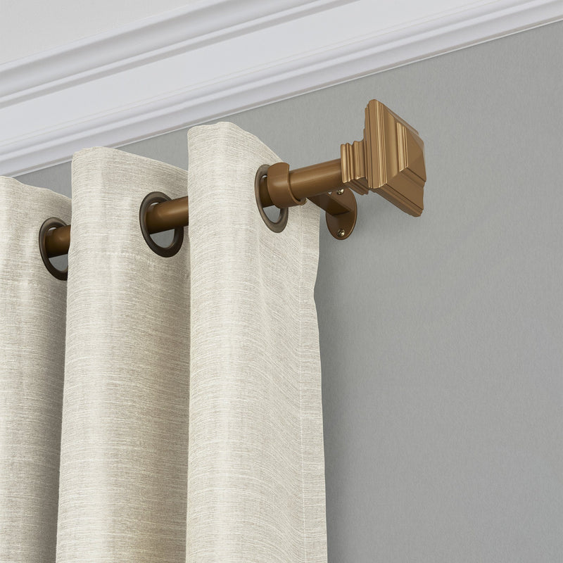polyresin curtain rod with decorative finial