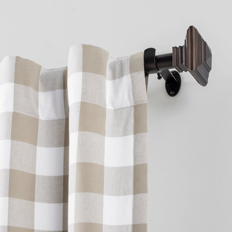 "Florence 1"" Window Drapery Single Curtain Rod With Stacked"