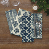 set of 24 indigo napkins