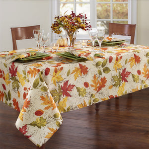 Autumn Leaves Fall Printed Tablecloth