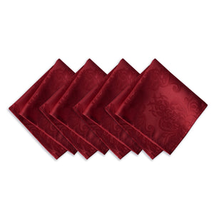 red set of 4 napkins