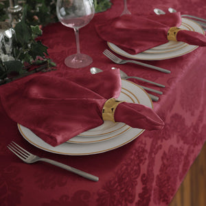 burgundy set of 4 napkins