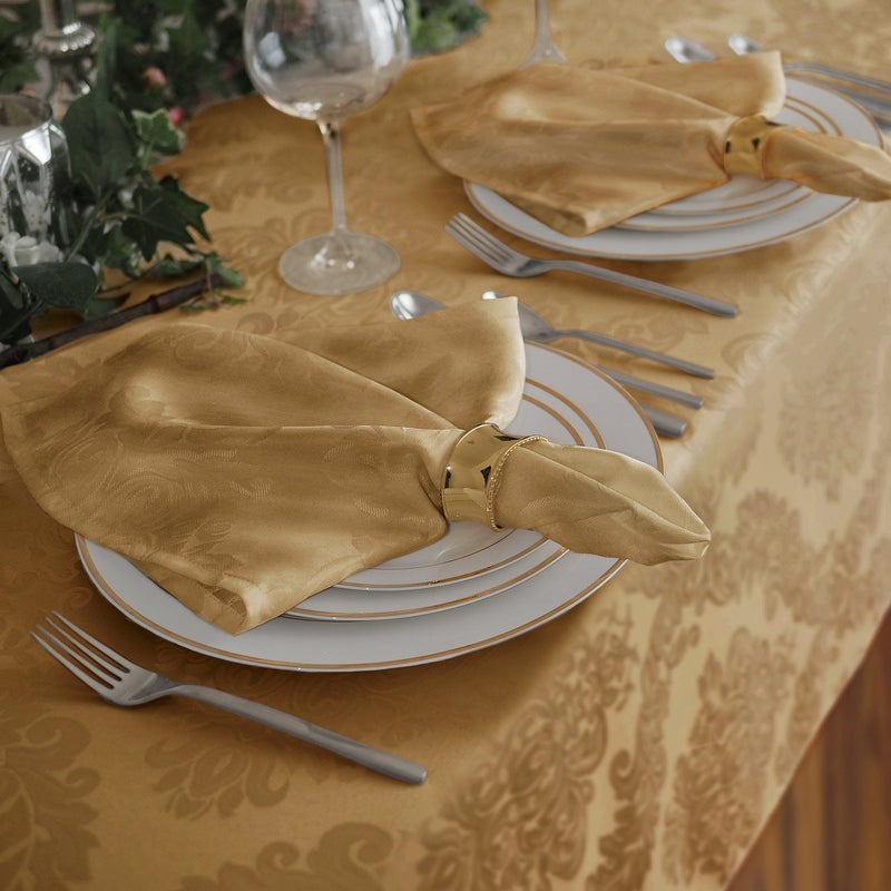 gold set of 4 napkins