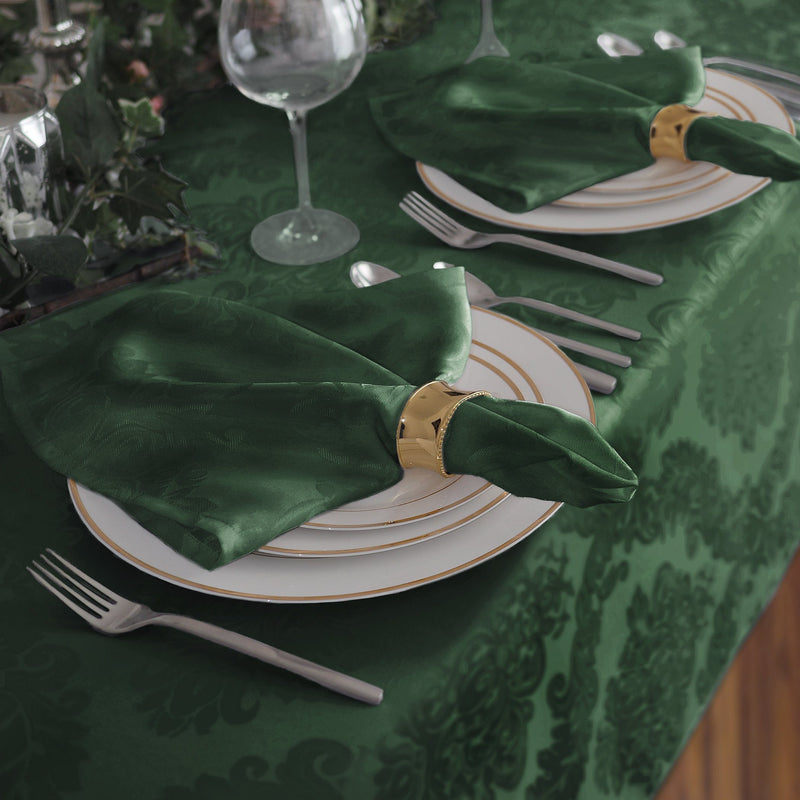green set of 4 napkins