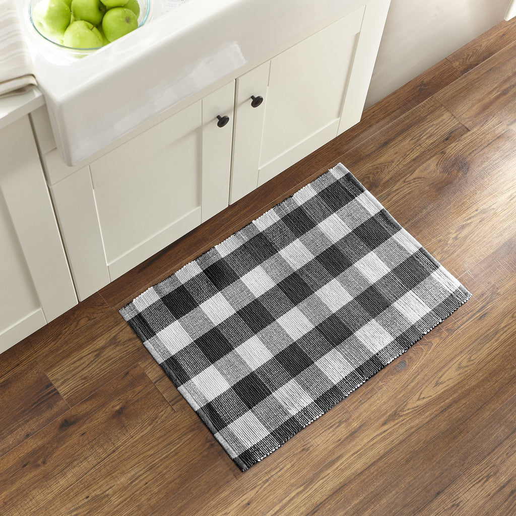 Farmhouse Living Buffalo Check Woven Kitchen Mat