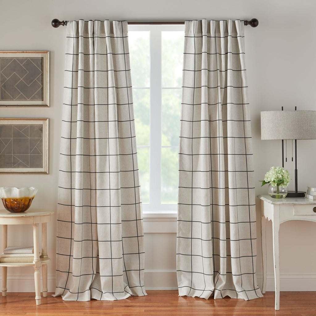 Brighton Windowpane Plaid Blackout Window Curtain Panel