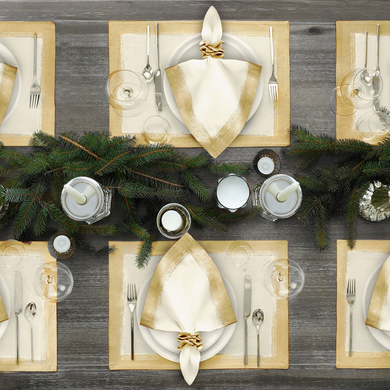 metallic placemat set of 4