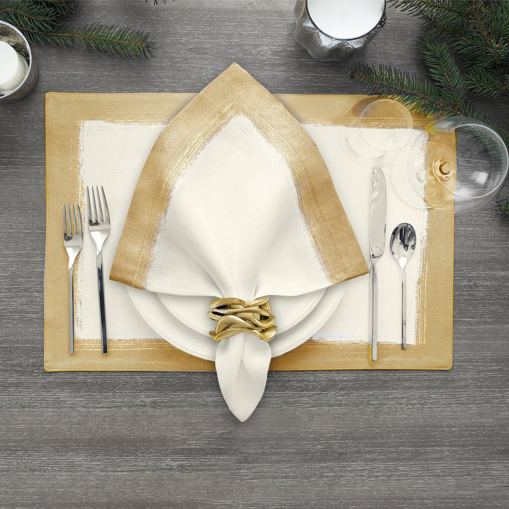 metallic napkin set of 4