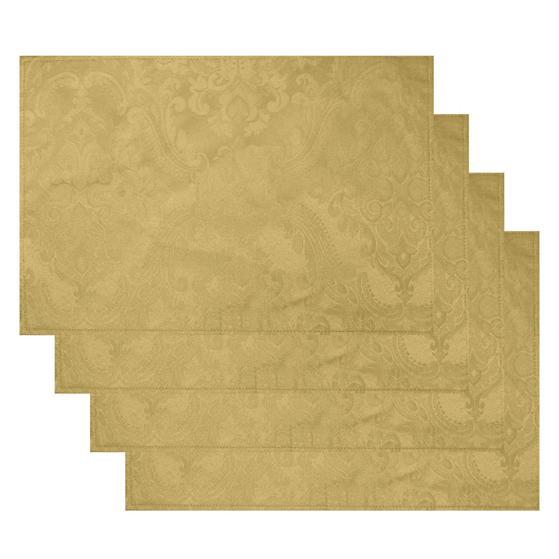 Caiden Elegance Damask Placemat, Set of 4