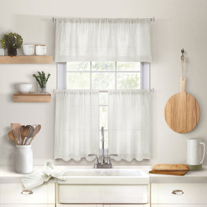 Cameron Linen Rod Pocket Kitchen Tier and Valance Collection