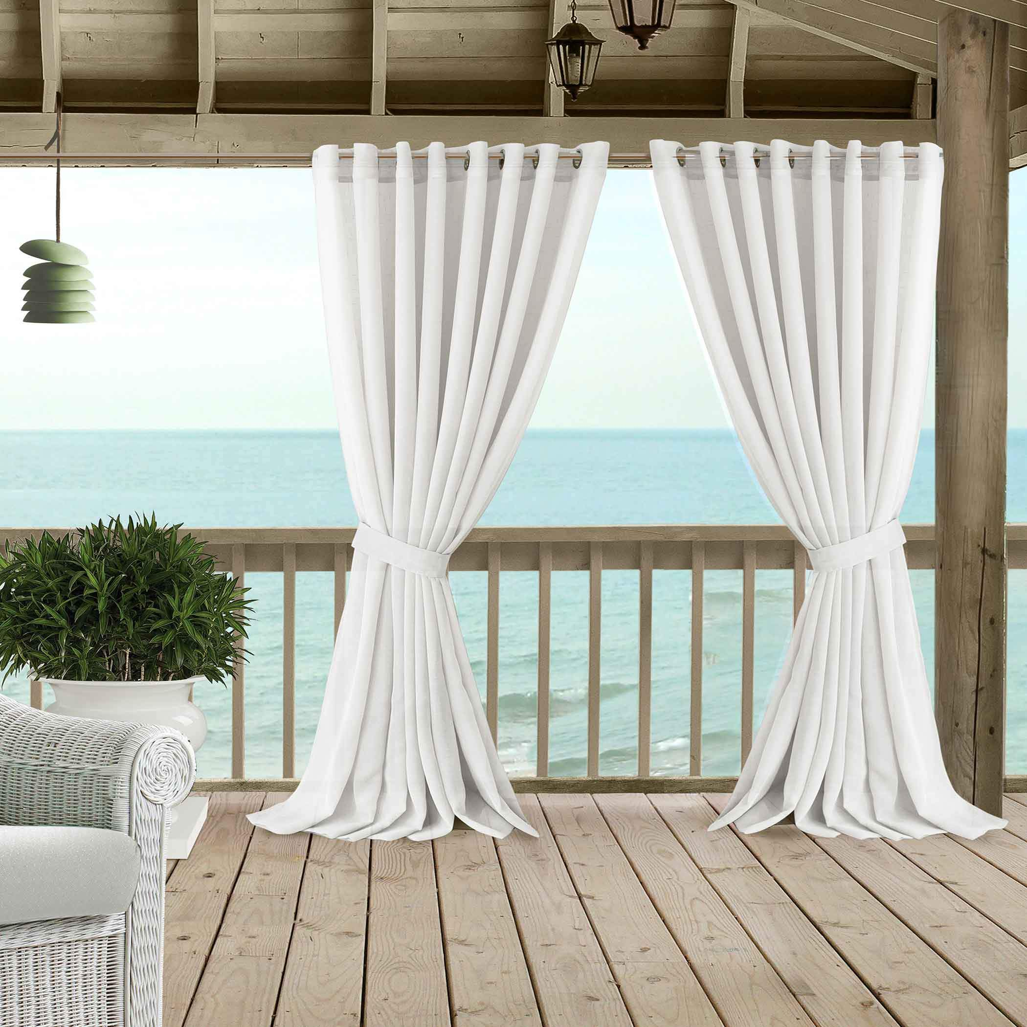 Carmen Sheer Extra Wide Indoor Outdoor Curtain Collection Elrene Home Fashions
