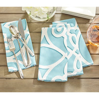 Chase Geometric Stain Resistant Indoor Outdoor Napkin (Set of 8)