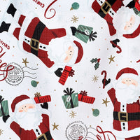 Santa Christmas Wishes Holiday Apron with Adjustable Neck and Waist Strap