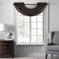 Colette Faux Silk Waterfall Beaded Window Valance