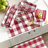 Farmhouse Living Stripe and Check Napkins, Set of 24