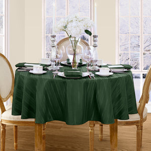 greenstripe tablecloth