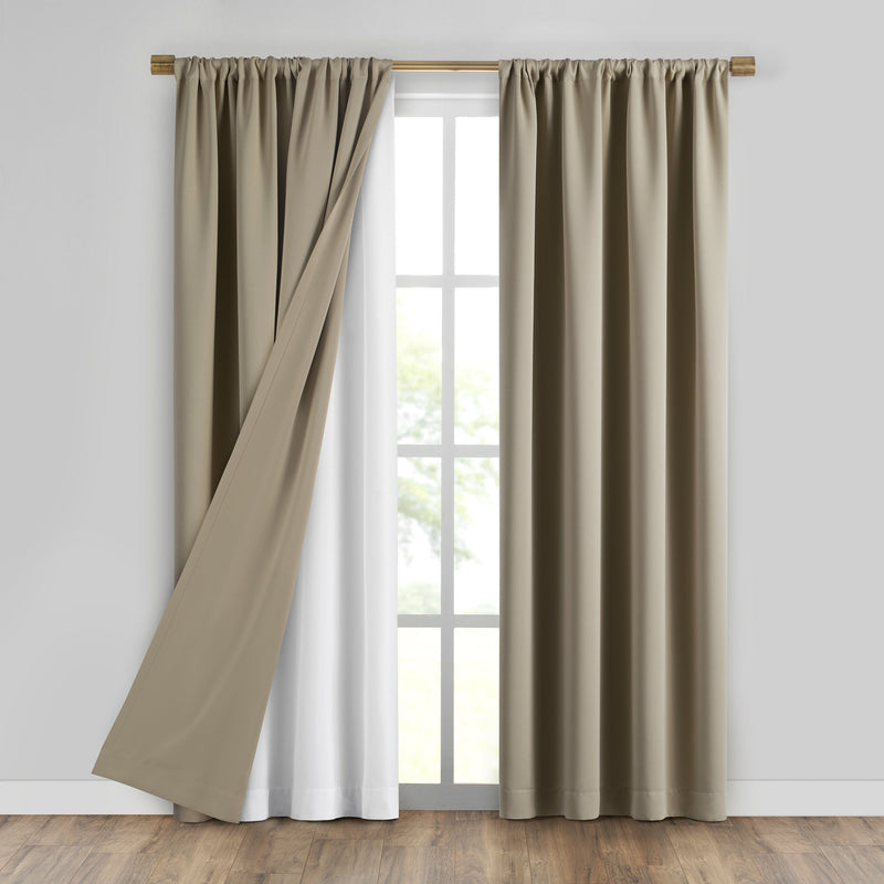 SunVeil Extra Wide Draft Stop Thermal Curtain Liner