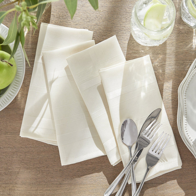 Elegance Plaid Damask Napkin, Set of 4