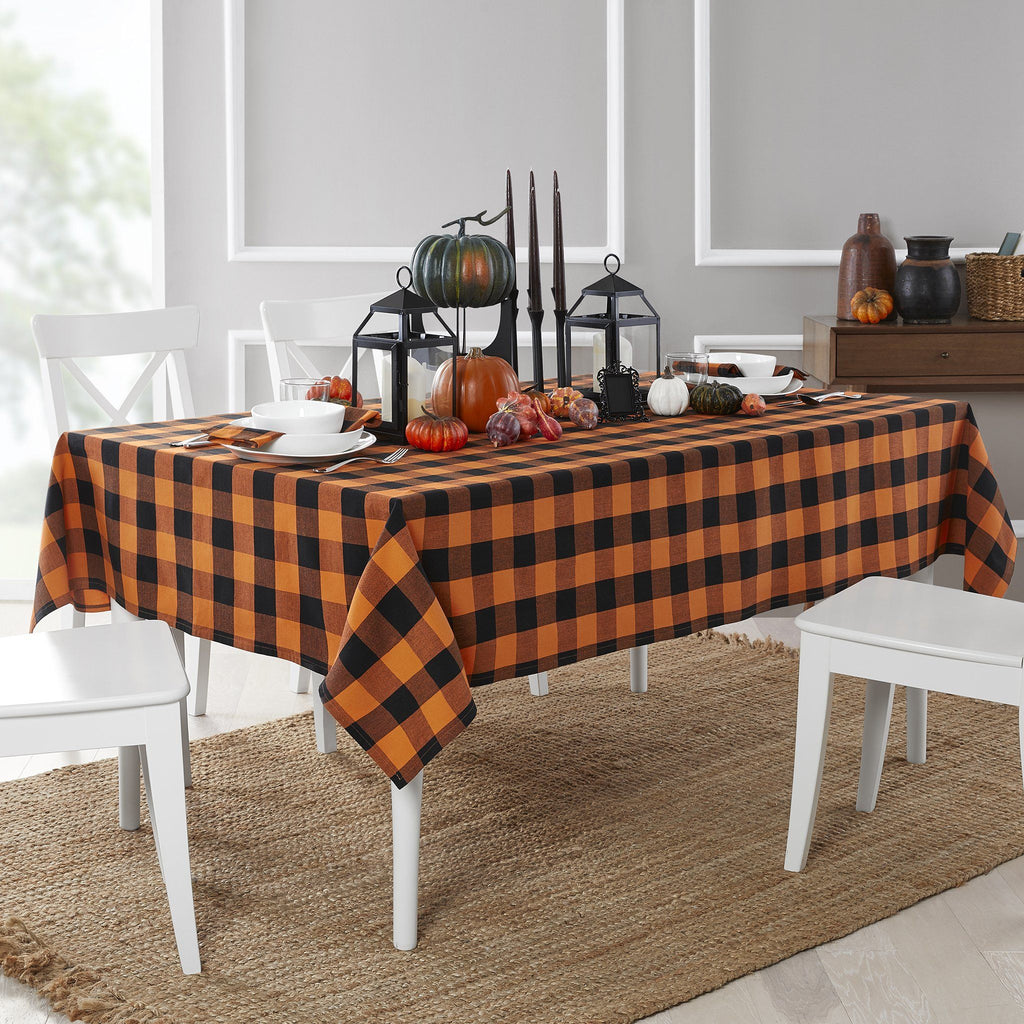 Farmhouse Living Fall Buffalo Check Tablecloth