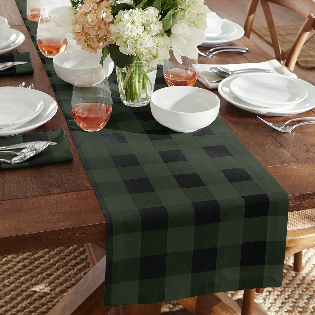 Farmhouse Living Holiday Buffalo Check Table Runner