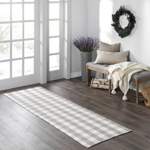 Farmhouse Living Buffalo Check Woven Kitchen Runner Rug